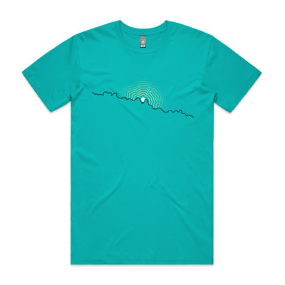 Mens Flock moonrise t-shirt (front print) Thumbnail